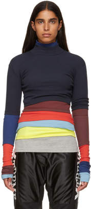 Y/Project Navy Rainbow Turtleneck