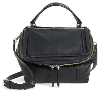 Vince Camuto Medium Patch Leather Crossbody Bag - Black