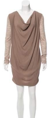 Hache Draped Mini Dress w/ Tags