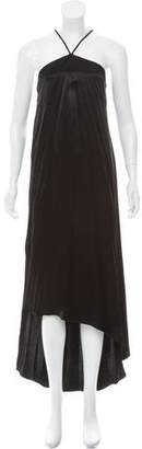 Acne Studios High-Low Satin Dress