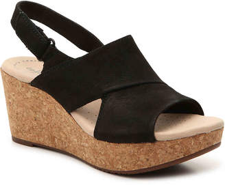 72542adeba9 Clarks Black Cushioned Footbed Women s Sandals - ShopStyle