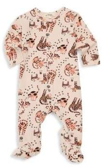 Baby Girl's Kitty Stretch Cotton Footie