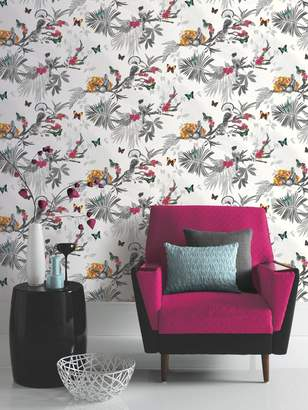 ARTHOUSE Mystical Forest Wallpaper - White
