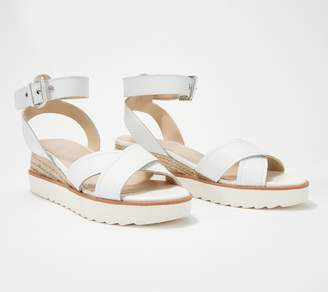 Marc Fisher Leather or Suede Cross Strap Wedges- Jovana