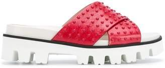 RED Valentino cross front slide sandals