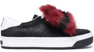 Marc Jacobs Faux Fur-trimmed Suede Sneakers
