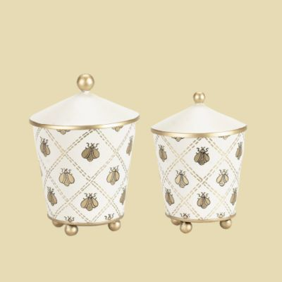 Quilted Bee Canister Set - Set of 2
