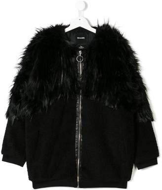 Andorine TEEN zipped faux fur coat