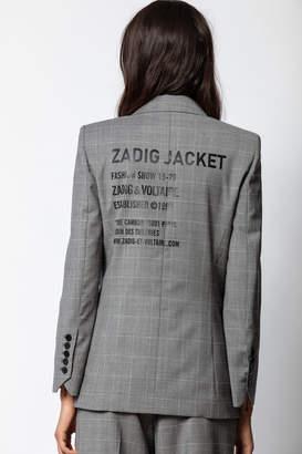 Zadig & Voltaire Visko Carreaux Jacket