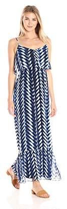 London Times Women's Sleeveless Chiffon Maxi Dress