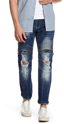 X-Ray Pintuck Pleated Distressed Jeans