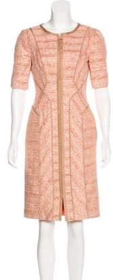 J. Mendel Metallic Tweed Dress