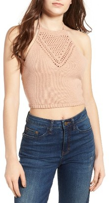 Women's Ten Sixty Sherman Crochet Halter Top $39 thestylecure.com