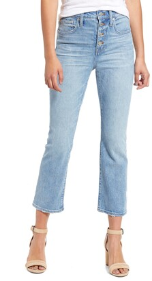 Madewell Cali Button Front Demi Boot Jeans