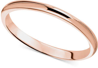 Macy's 14k Rose Gold Ring, 2mm Wedding Band
