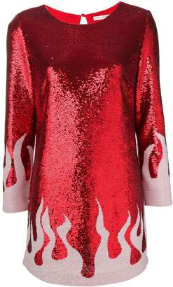 Each X Other fire sequinned mini dress