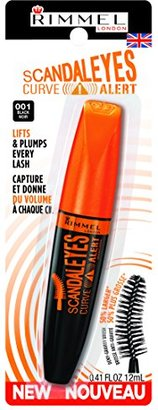 Rimmel Scandaleyes Curved Brush Mascara, Black, 0.41 Fluid Ounce $6.99 thestylecure.com
