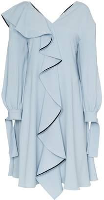 ADEAM ruffle detail dress