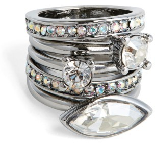 Women's St. John Collection Swarovski Crystal Cocktail Ring $95 thestylecure.com