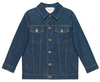 Gucci Children's denim jacket with logo