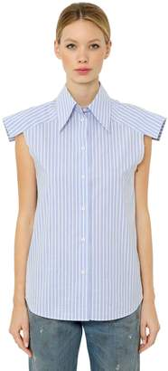 MM6 MAISON MARGIELA Striped Cotton Poplin Sleeveless Shirt