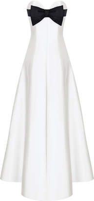 Rasario Bow-Embellished Silk Corset Gown Size: 36