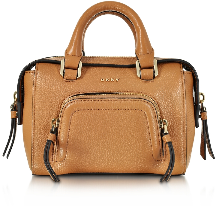 DKNY Chelsea Vintage Style Copper Leather Mini Satchel Bag