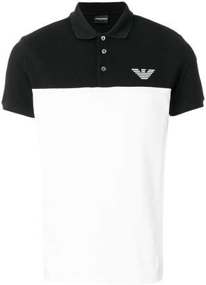 Emporio Armani contrast panel polo shirt