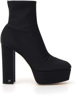 Sergio Rossi Chunky Heel Platform Boots