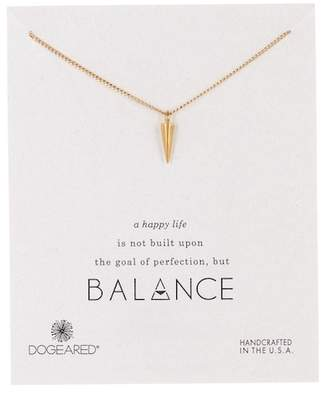Dogeared 14K Gold Plated Sterling Silver Balance Spike Pendant Necklace