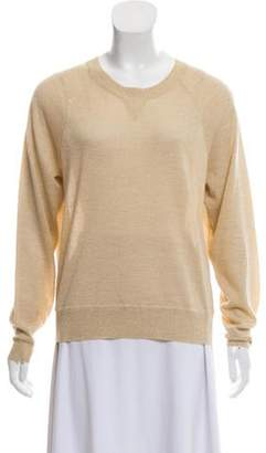 Elizabeth and James Metallic Wool-Blend Sweater Gold Metallic Wool-Blend Sweater