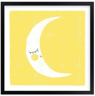 Pottery Barn Kids Sleepy Moon Wall Art by Minted®, Black, 11x11