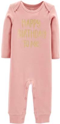 Carter's Baby Girl Happy Birthday to Me Bodysuit
