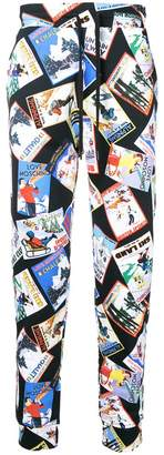 Love Moschino printed track trousers