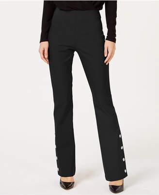 INC International Concepts I.n.c. Petite Snap Bottom Boot Leg Pants, Created for Macy's