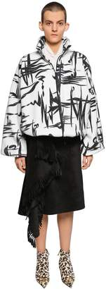 Balenciaga Oversized Printed Zip-Up Fleece Jacket