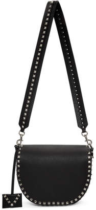 Valentino Black Garavani Rockstud Saddle Bag