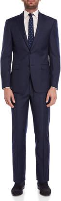 Calvin Klein Two-Piece Sharkskin Windowpane Suit