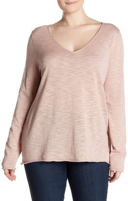Susina Lightweight V-Neck Sweater (Plus Size)