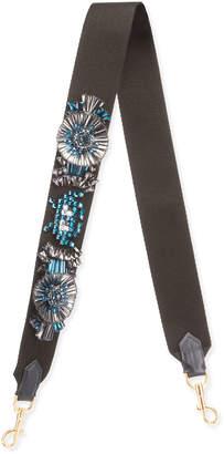 Anya Hindmarch Space Invader Embellished Shoulder Strap for Handbag, Black