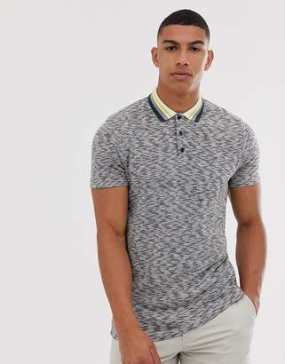 Asos Design DESIGN polo shirt with contrast tipping in grey