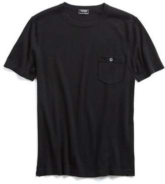 Todd Snyder Short Sleeve Cashmere T-Shirt in Black