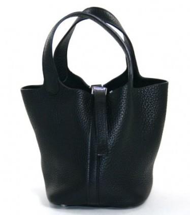 Hermes excellent (EX Black Clemence Picotin Bag