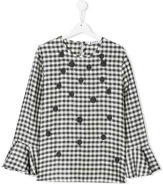 Dondup Kids gingham print blouse