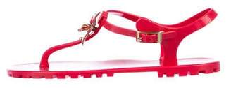 DSQUARED2 Ankle Strap Thong Sandals