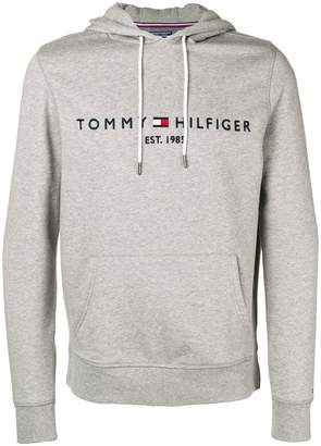 Tommy Hilfiger (トミー ヒルフィガー) - Tommy Hilfiger logo-embroidered hoodie
