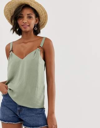 Asos DESIGN cami with ring detail