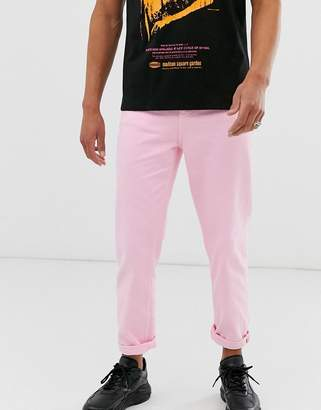 Asos Design DESIGN high waisted jeans in pink