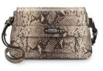 Armani Collezioni Snake-Print Leather Crossbody Bag