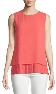 Calvin Klein Overlay Sleeveless Top